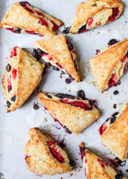 {Cooking with Friends} Triple Berry Scones, by Simple Bites