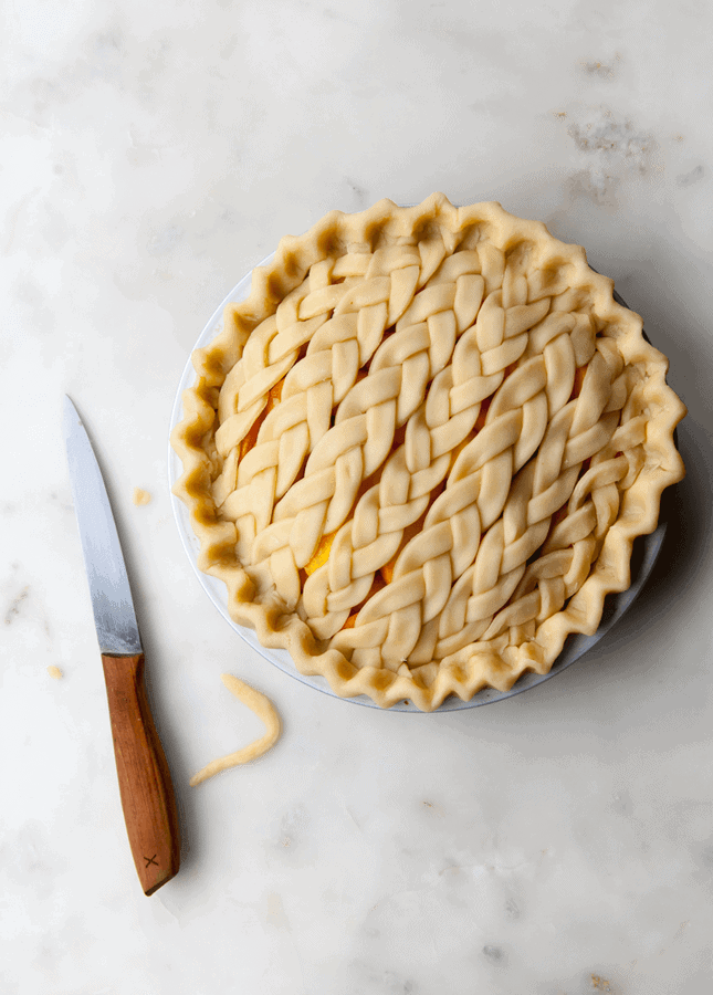 Cinnamon Peach Pie with Braid Crust, by Style Sweet CA // FoodNouveau.com