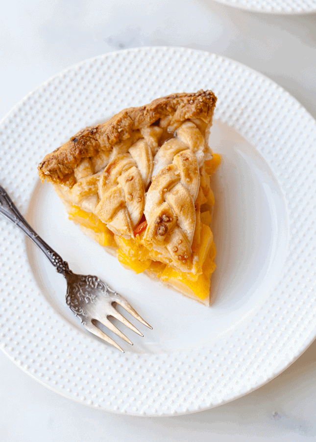 {Cooking with Friends} Cinnamon Peach Pie with Braid Crust, by Style Sweet CA