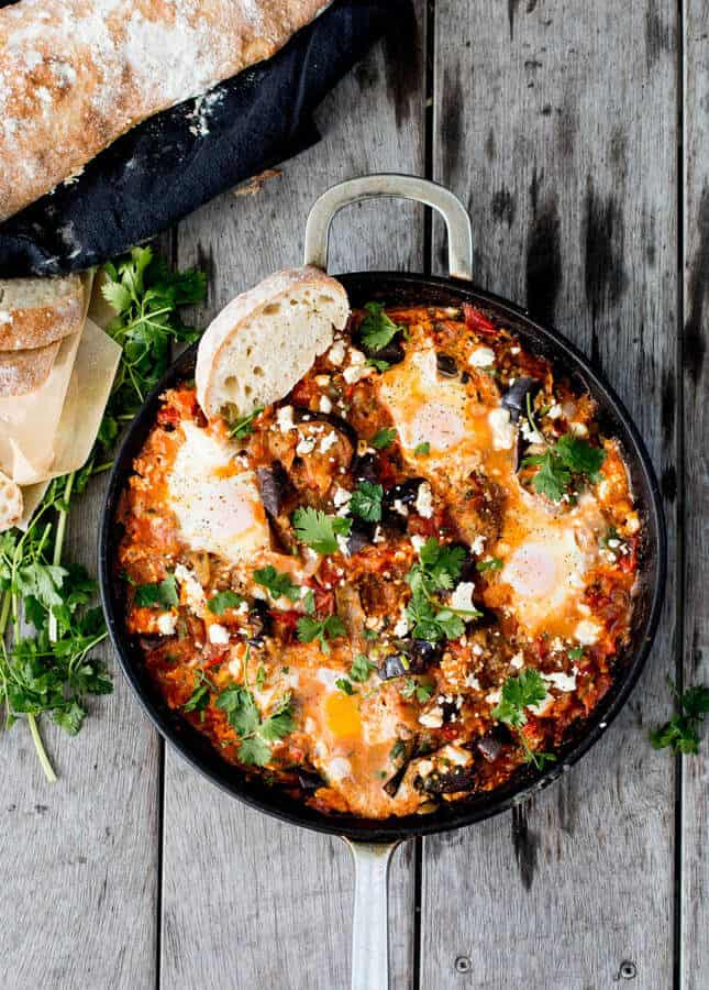 Roasted Eggplant Shakshuka, by The Brick Kitchen // FoodNouveau.com