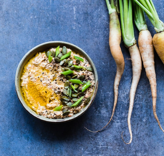 Roasted Carrot, Cumin and Harissa Dip, by Christelle is Flabbergasting // FoodNouveau.com