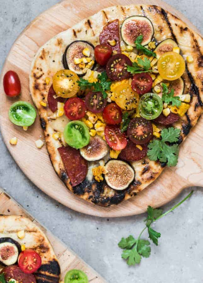 Late-Summer Grilled Pizza, by Christelle is Flabbergasting // FoodNouveau.com
