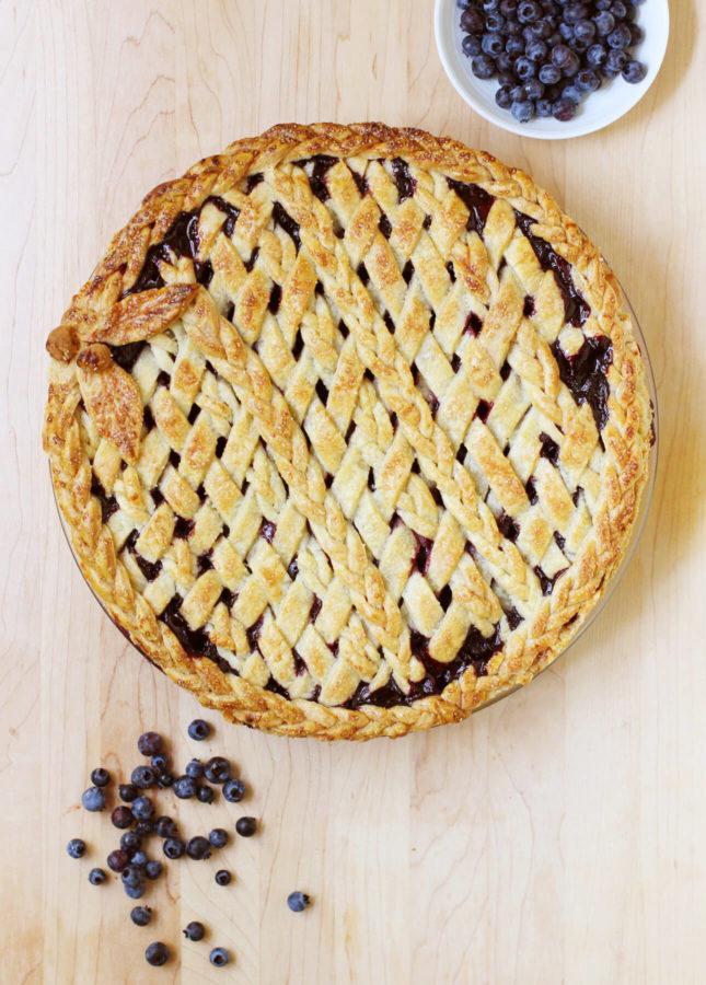 Classic Lattice-Top Wild Blueberry Pie // FoodNouveau.com