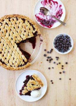 Lattice-Top Wild Blueberry Pie