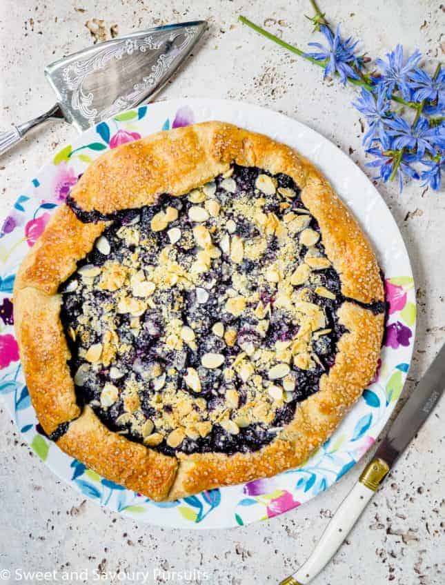 Blueberry Almond Crumble Galette, by Sweet and Savoury Pursuits // FoodNouveau.com