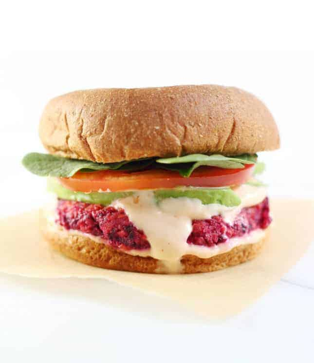 Gluten-Free Veggie Burgers with Sriracha Mayo, by From Scratch Fast // FoodNouveau.com