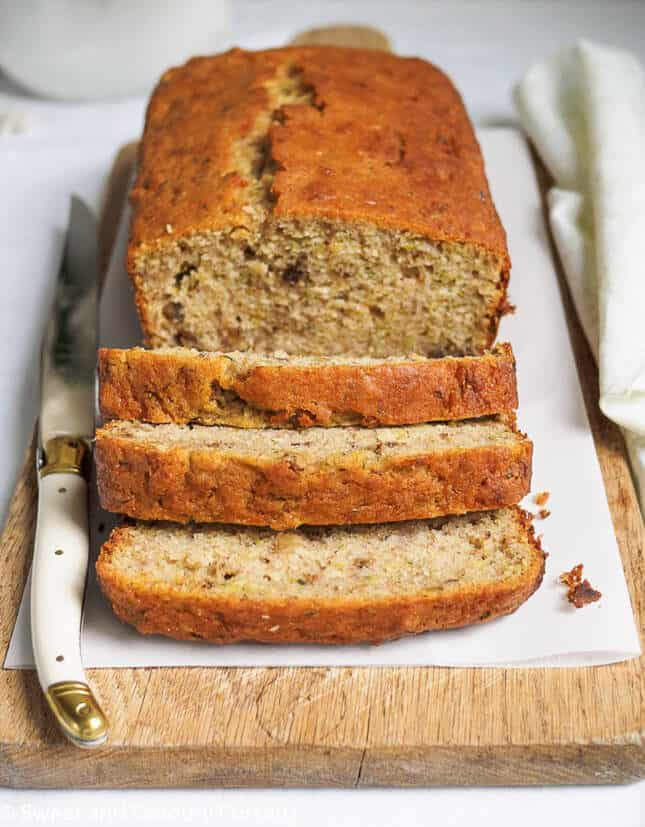 Lemon Zucchini Walnut Loaf, by Sweet and Savoury Pursuits // FoodNouveau.com