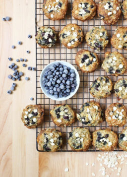 Oats, White Chocolate, and Wild Blueberry Cookies
