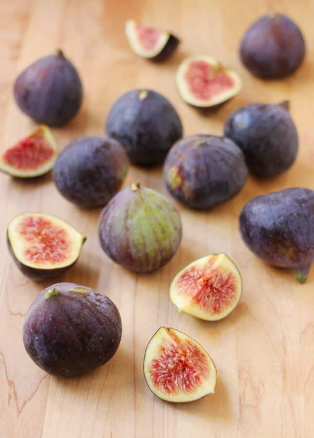 Fresh figs to make Maple-Roasted Fig and Hazelnut Financiers // FoodNouveau.com