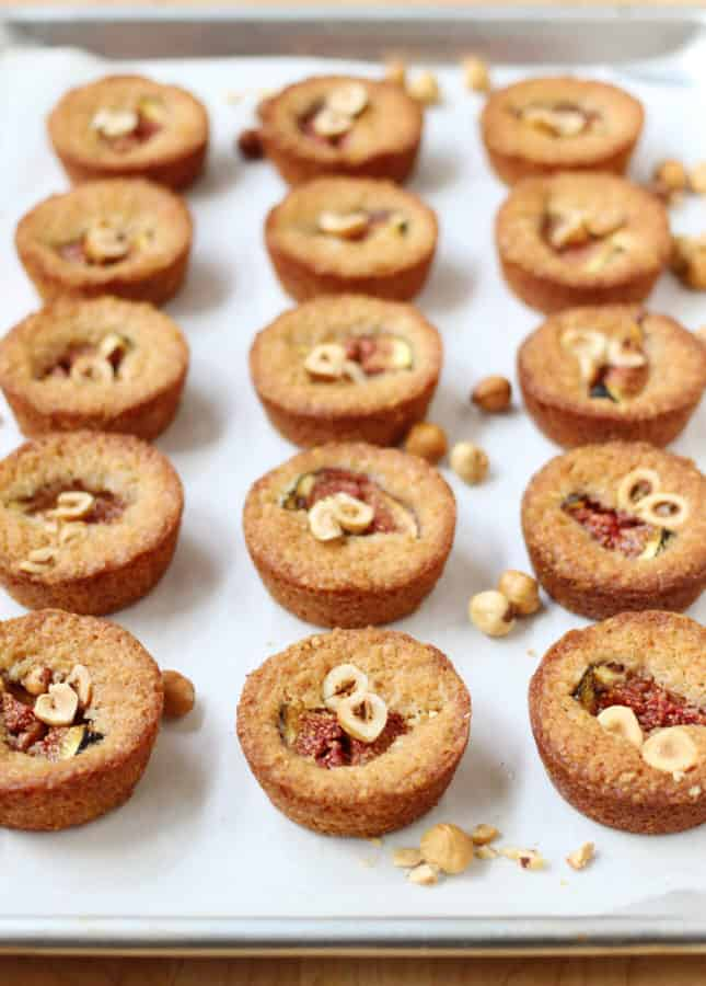 Maple-Roasted Fig and Hazelnut Financiers // FoodNouveau.com