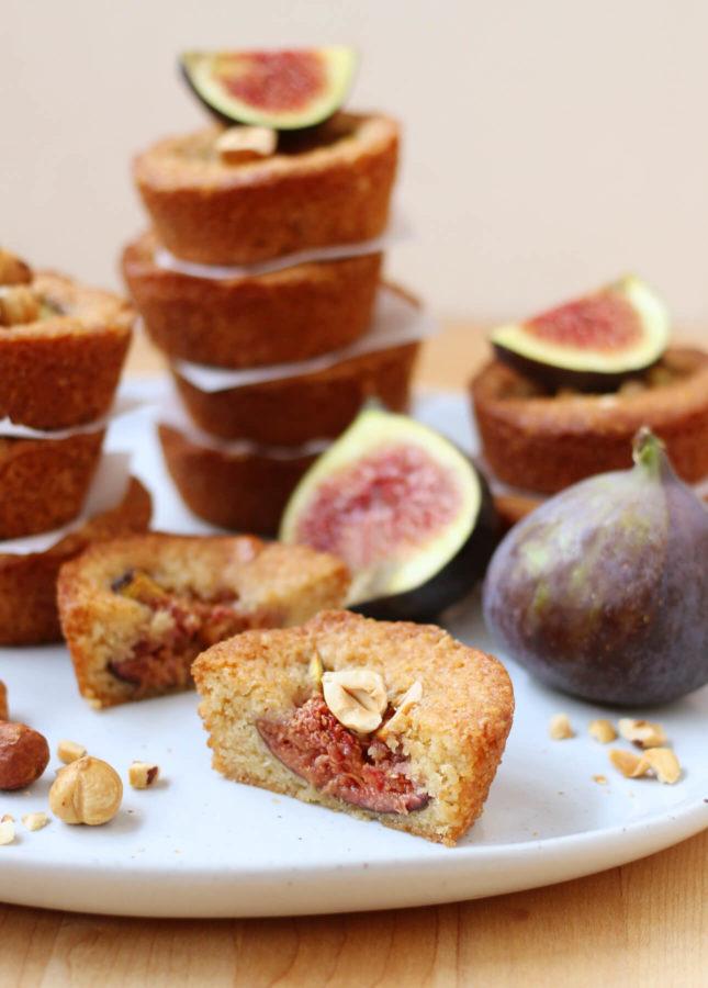 Maple-Roasted Fig and Hazelnut Financiers // FoodNouveau.com