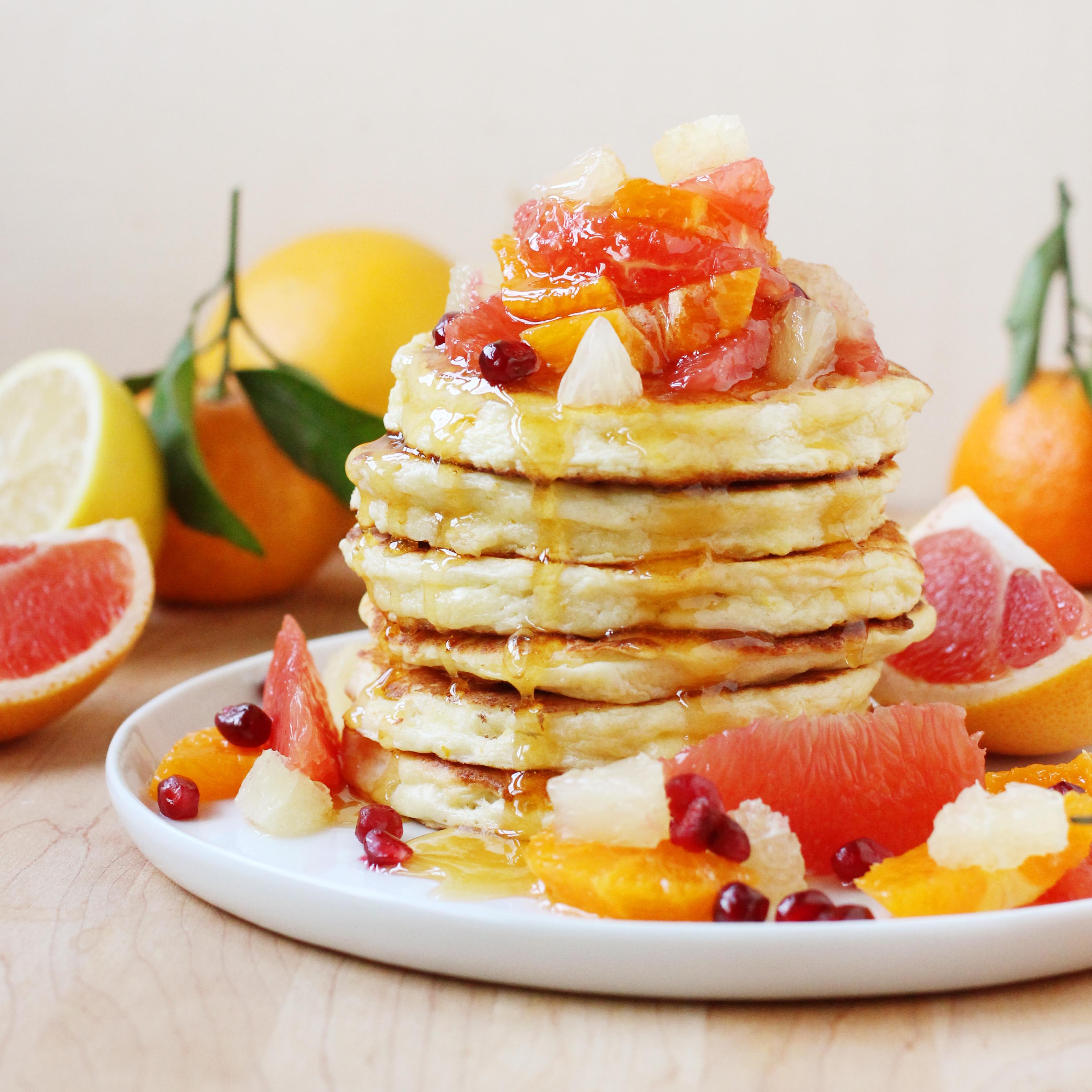 Citrus Ricotta Pancakes