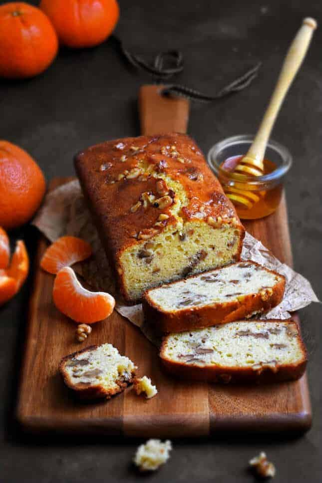Tangerine, Honey, and Walnut Cake, by Pardon Your French // FoodNouveau.com