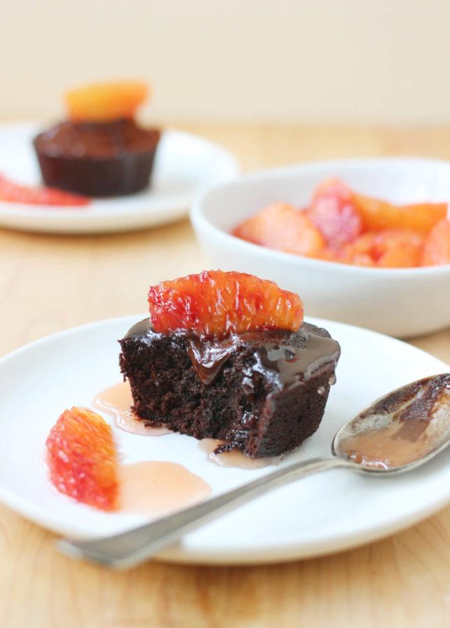 Blood Orange and Dark Chocolate Fondant Cakes // FoodNouveau.com