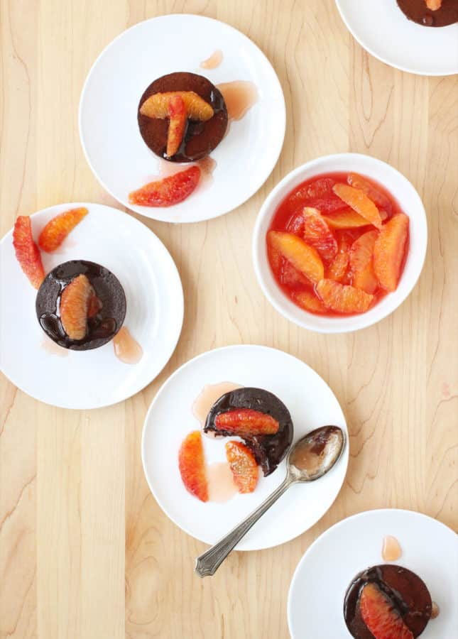 Blood Orange and Dark Chocolate Fondant Cakes // FoodNouveau.com