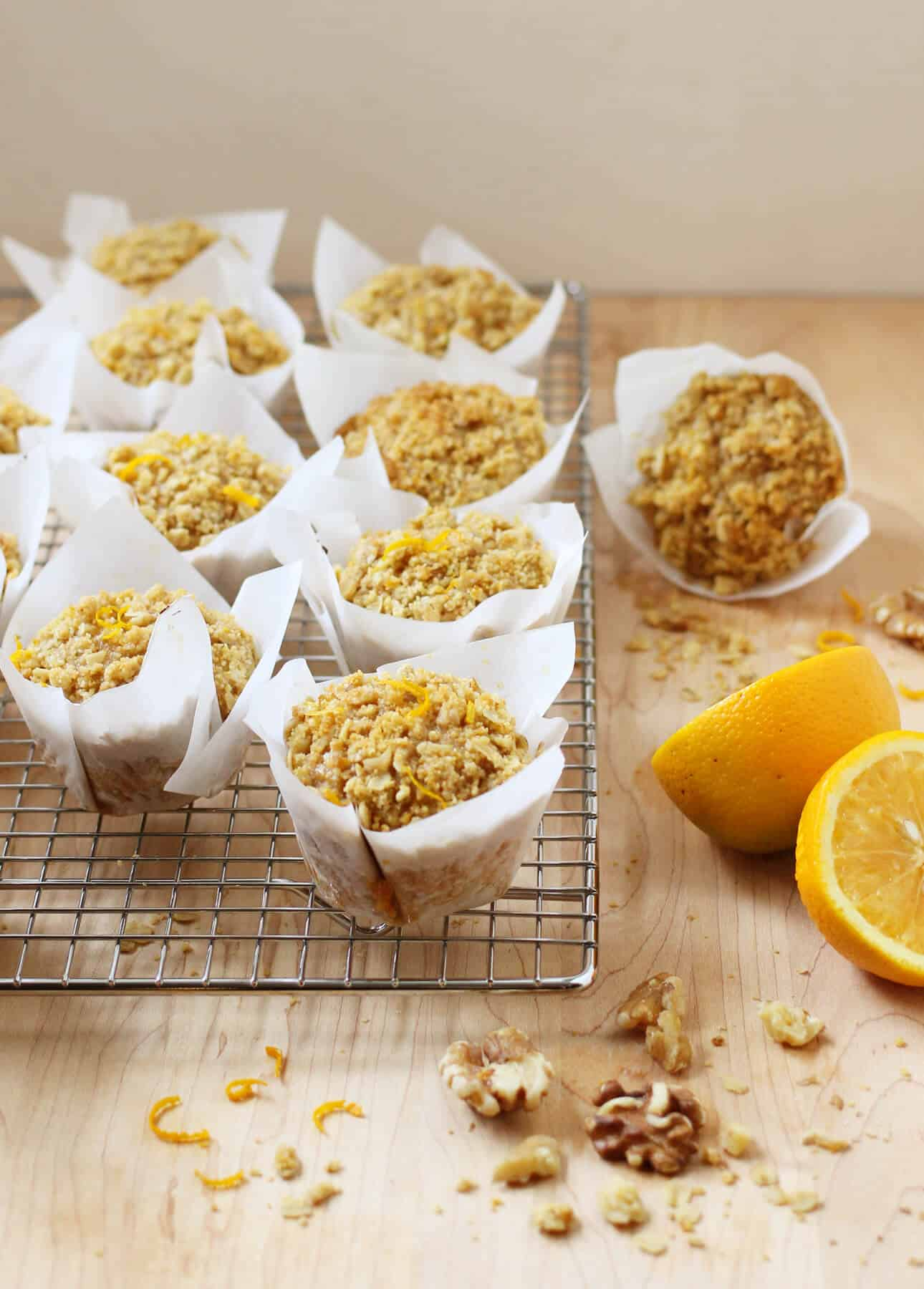 Whole Orange and Maple Oatmeal Muffins