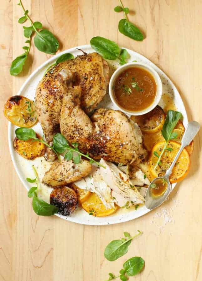 Spatchcocked Chicken with Lemons and Oranges // FoodNouveau.com