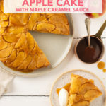 Tatin Cake: Upside-Down Apple Cake with Maple Caramel Sauce // FoodNouveau.com