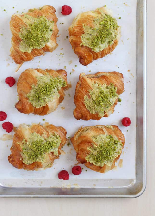 Pistachio Croissants, from French Pastry 101 // FoodNouveau.com