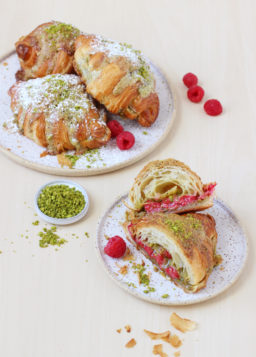 Easy Pistachio Croissants, from French Pastry 101