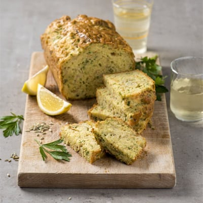 Caramelized Fennel, Lemon, and Comté Cake, a recipe from the cookbook French Appetizers, by Marie Asselin