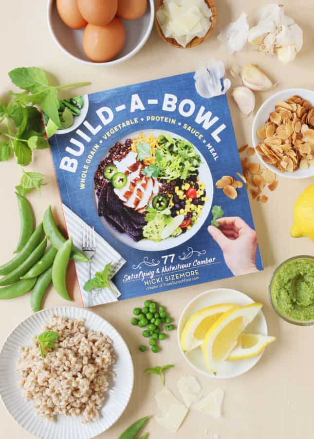 Nicki Sizemore's Build-a-Bowl: 77 Satisfying & Nutritious Combos: Whole Grain + Vegetable + Protein + Sauce = Meal // FoodNouveau.com