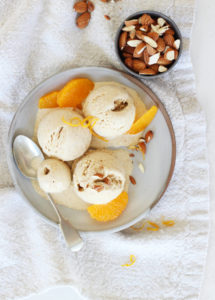 Mandorla e Arancia Gelato // Almond and Orange Gelato // FoodNouveau.com