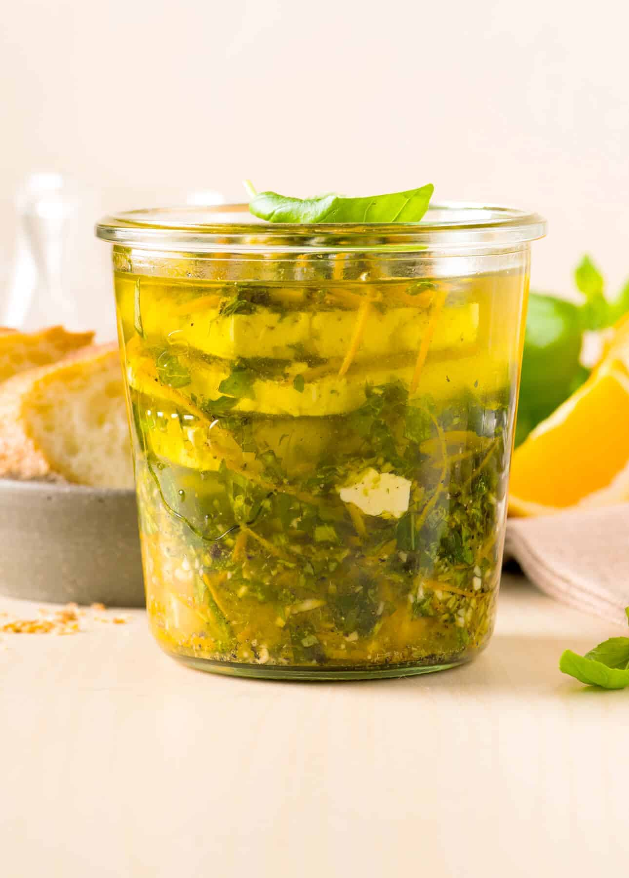 Orange-and-Fresh-Herb Marinated Feta // FoodNouveau.com