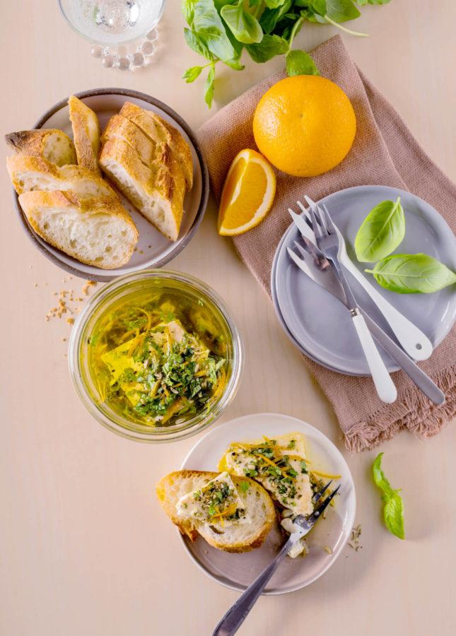 Orange-and-Fresh-Herb Marinated Feta // FoodNouveau.com