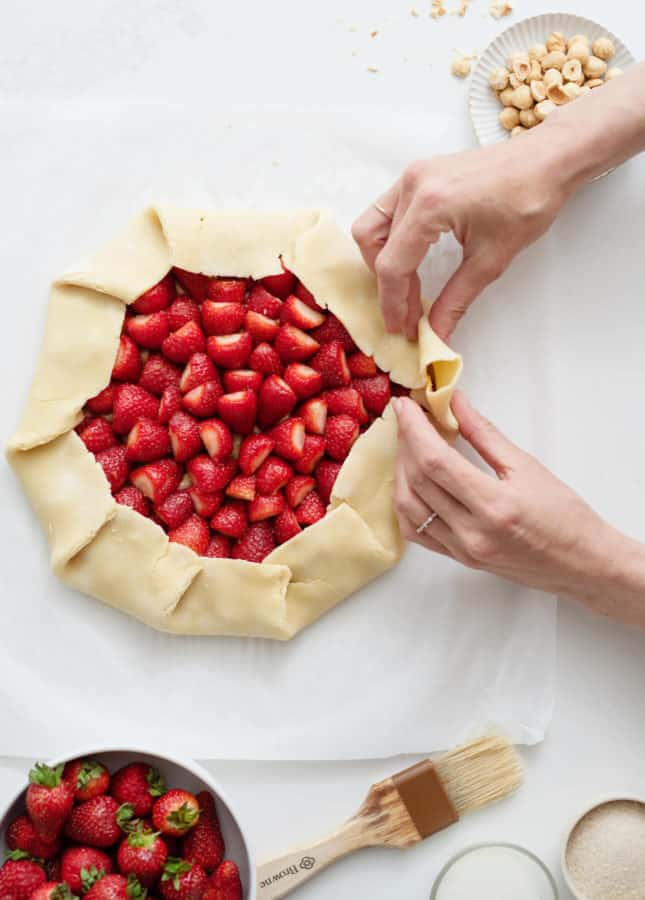 Hazelnut and Strawberry Galette // FoodNouveau.com