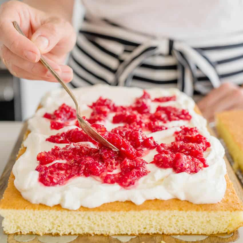 Easy, Versatile Layered Sheet Cake // FoodNouveau.com