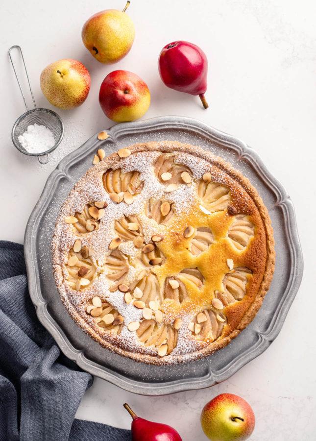 Poached Pear and Almond Tart // FoodNouveau.com