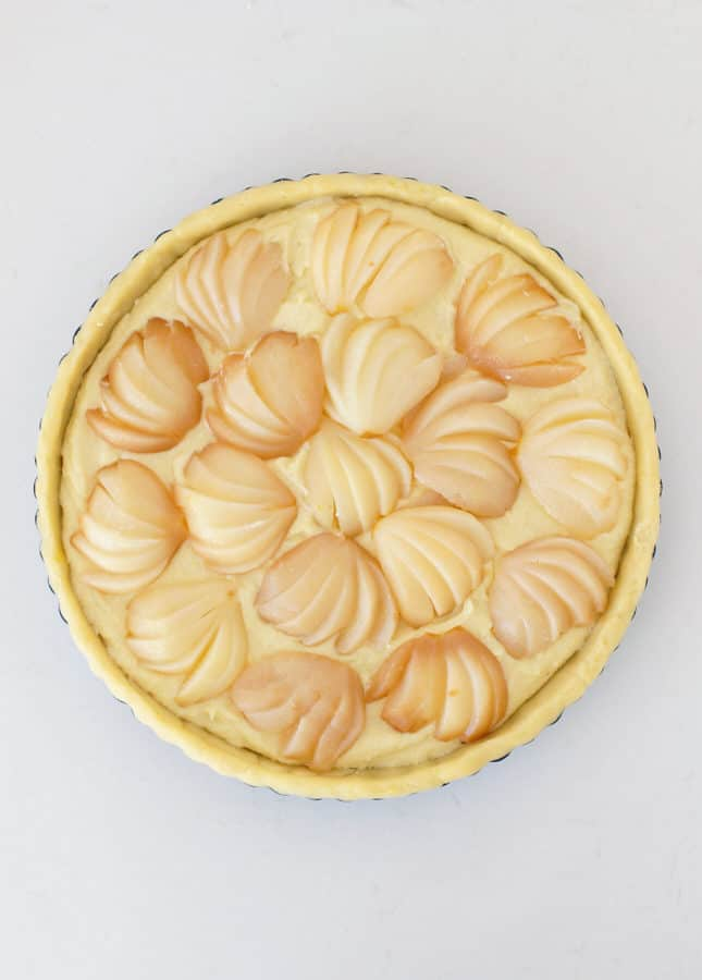 Poached Pear and Almond Tart // FoodNouveau.com