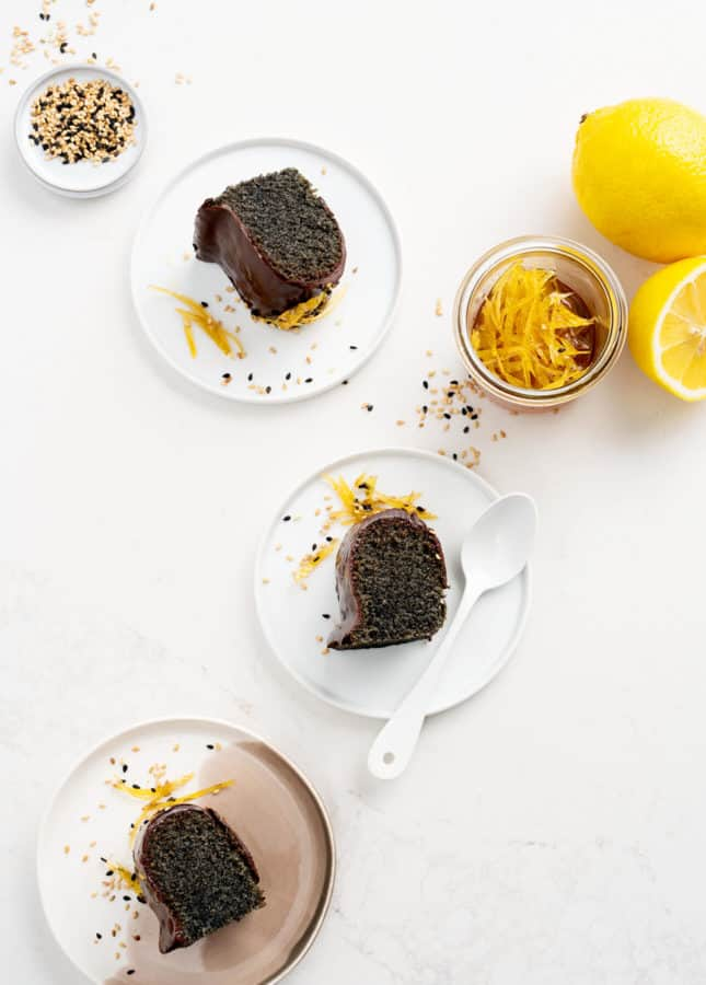 Black Sesame and Chocolate Financier Cake // FoodNouveau.com