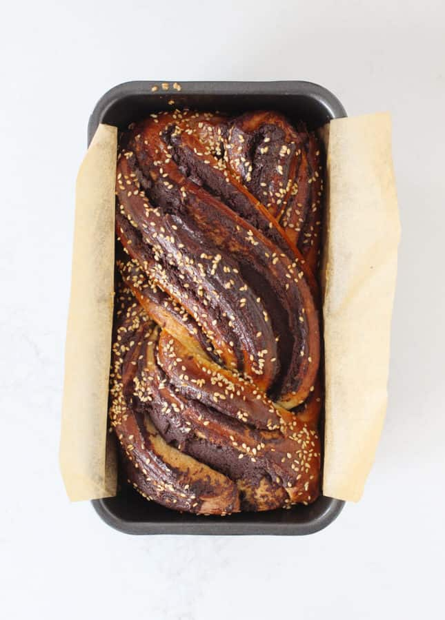 Chocolate Babka with Tahini // FoodNouveau.com