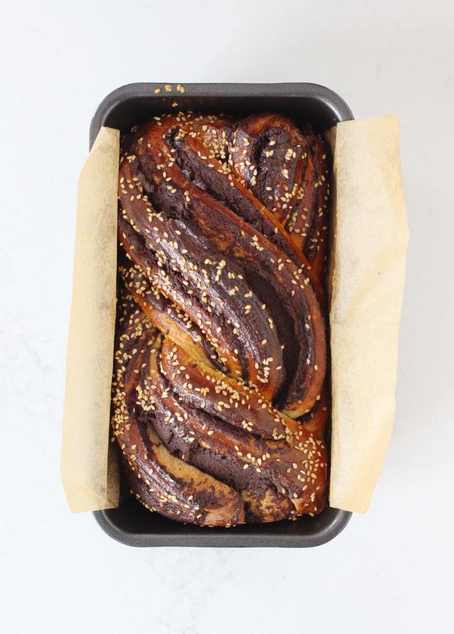 Chocolate Babka with Tahini // FoodNouveau.com
