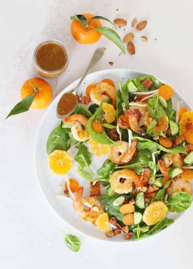 Marmalade Shrimp and Bacon Salad // FoodNouveau.com