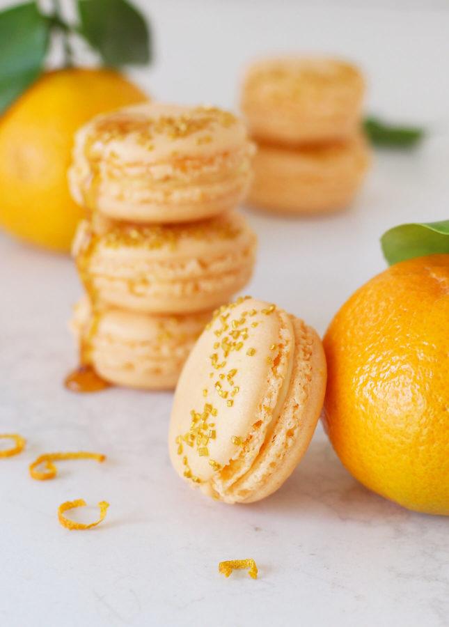 Honey Orange Macarons // FoodNouveau.com