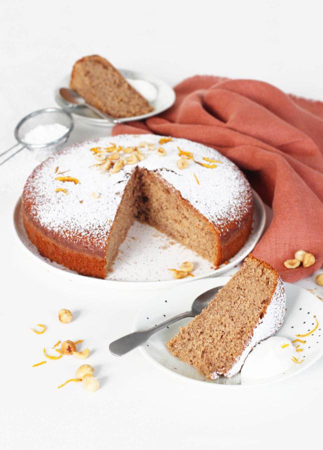 Torta di Nocciole (Italian Hazelnut Cake) // FoodNouveau.com