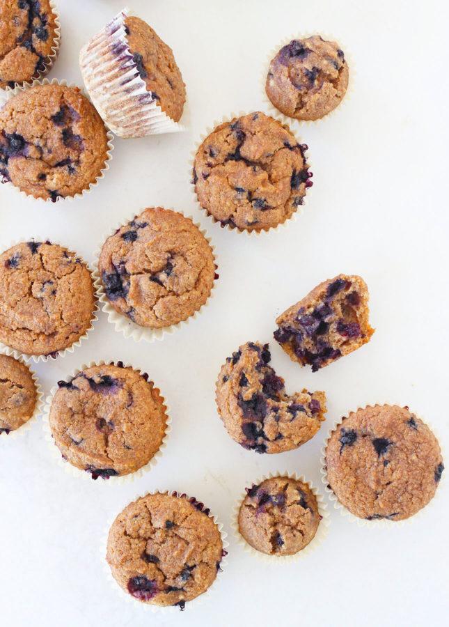 Honey Blueberry Bran Muffins // FoodNouveau.com