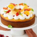 Easy Orange Yogurt Cake with Citrus Whipped Cream // FoodNouveau.com