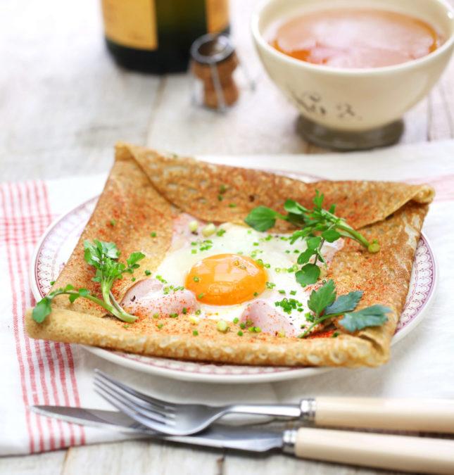 A Breton buckwheat galette served the traditional way // FoodNouveau.com