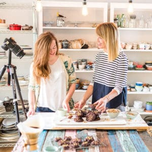 Catherine Côté, food photographer, and Marie Asselin, food stylist