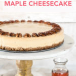 Better-for-You Maple Cheesecake // FoodNouveau.com