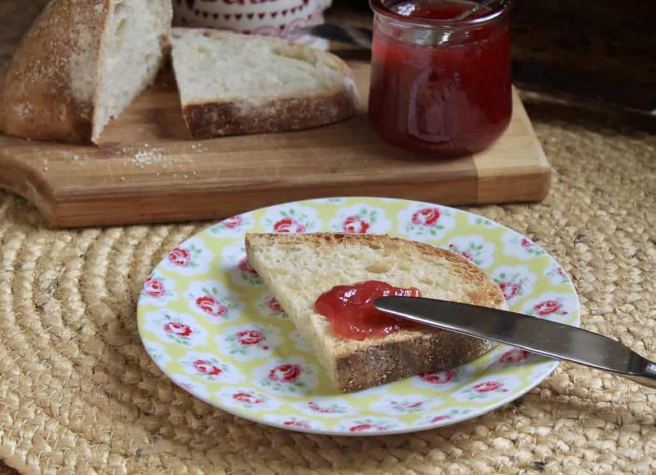 The Easiest Rhubarb Jam Recipe by Christina's Cucina // 15 Rhubarb Dessert Recipes for Spring