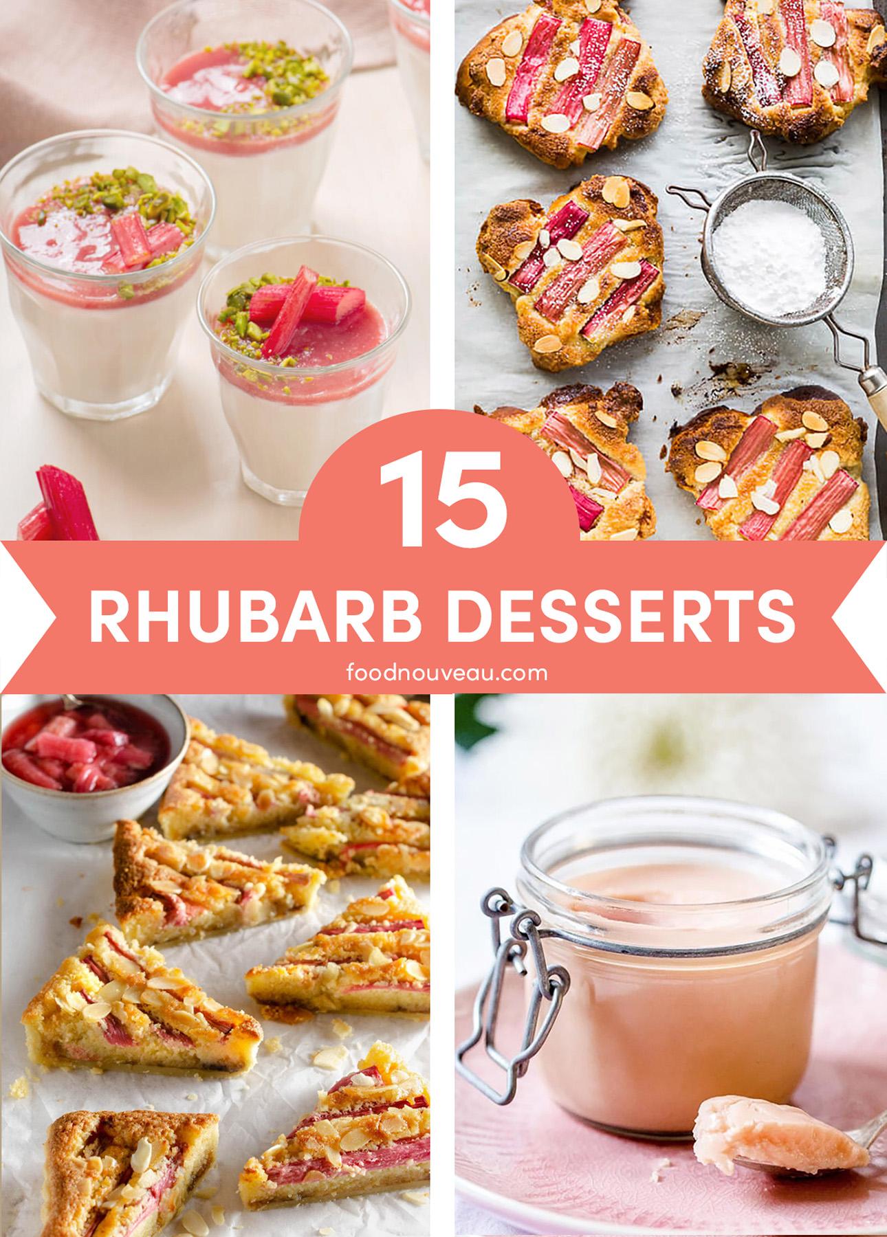 15 Rhubarb Dessert Recipes for Spring // FoodNouveau.com