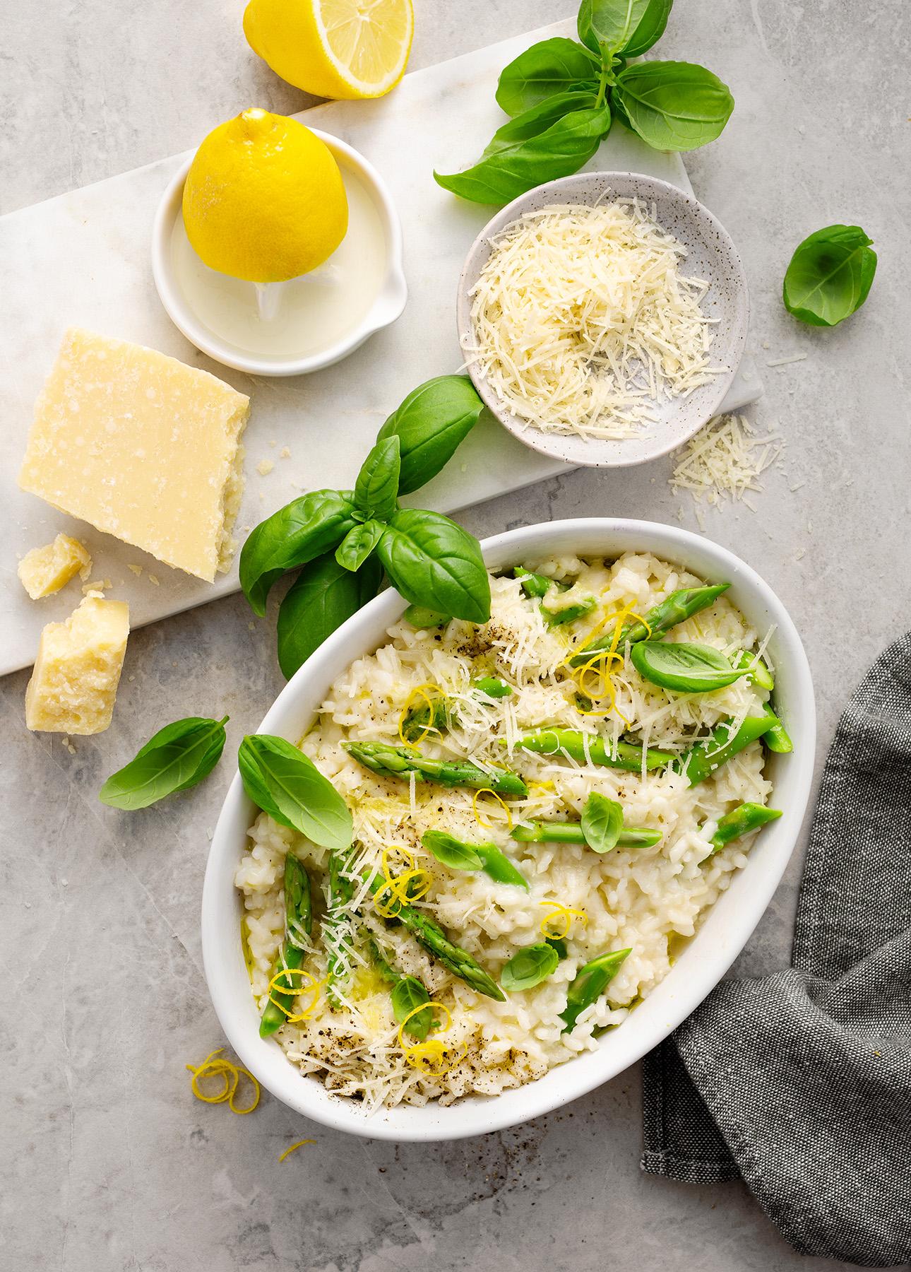 Lemon Asparagus Risotto // FoodNouveau.com